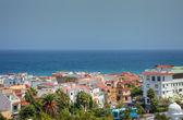 Shoreline of Atlantic ocean, cityscape view of Tenerife island. — Stock Photo