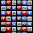 Collection of vector internet icons and buttons. Good for browse - Stock Vector