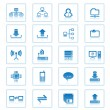 Collection of vector computer network communications icons. — Stock Vector