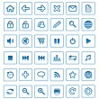 Royalty-Free Stock Imagen vectorial: Collection of vector internet icons and buttons. Good for browse