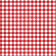 Red vector checkered picnic tablecloth. Good as background or ba — Stock Vector