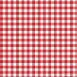 Red vector checkered picnic tablecloth. Good as background or ba — Stock Vector #8107738