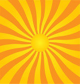 Retro style vector sunburst background. — Stock Vector