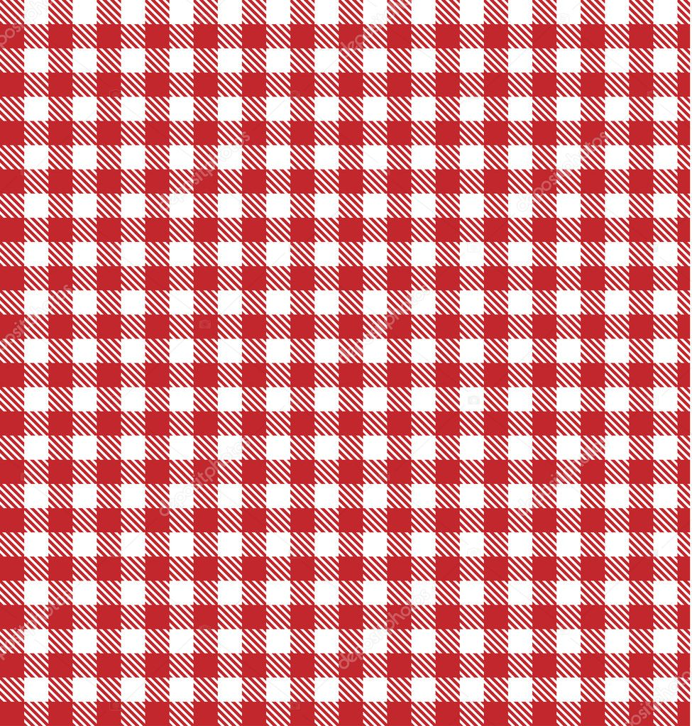 Table Cloth Background : Red vector checkered picnic tablecloth. Good as background or ba ...