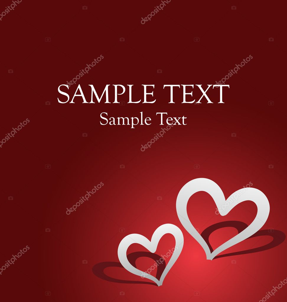 Vector romantic celebration card for valentine's day or birthday. Perfect for adding text. — Stock Vector #8107780