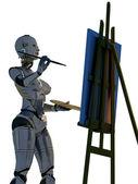 Robot artist. — Stock Photo