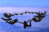 Sport is in sky — Stock Photo