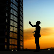 Silhouette of a worker - Foto de Stock