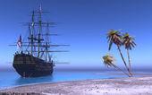 Корабль — Стоковое фото