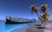 Het vrachtschip — Stockfoto