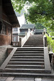 Chinese old stone bridge in Wuzhen village — Stock Photo