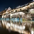 Stock Photo: Chinvillage building night scene