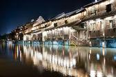 China village building night scene — Stock Photo