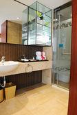 Luxury hotel toilet — Stock Photo