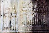 カンボジア - アンコール ワット寺院彫刻 — ストック写真