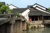 China oude gebouw in de wuzhen stad — Stockfoto