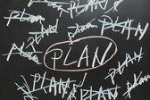 Choosing plan — Stock Photo