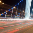 Urban night traffic — Stock Photo