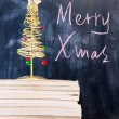 Chalkboard writing - Merry Christmas — Stock Photo