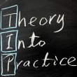 Theory into practice — Stock Photo