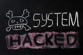 System hacked — Stock Photo