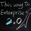 Stock Photo: This way to Enterprise 2.0