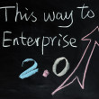 This way to Enterprise 2.0 — Stock Photo