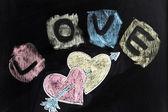 Amor, corações e seta — Fotografia Stock