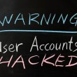 User accounts hacked — Stock Photo