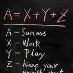 Formula of success — Stock Photo #9185401