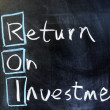 Return on investment — Stock Photo #9185600