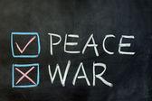 Peace or war — Stock Photo