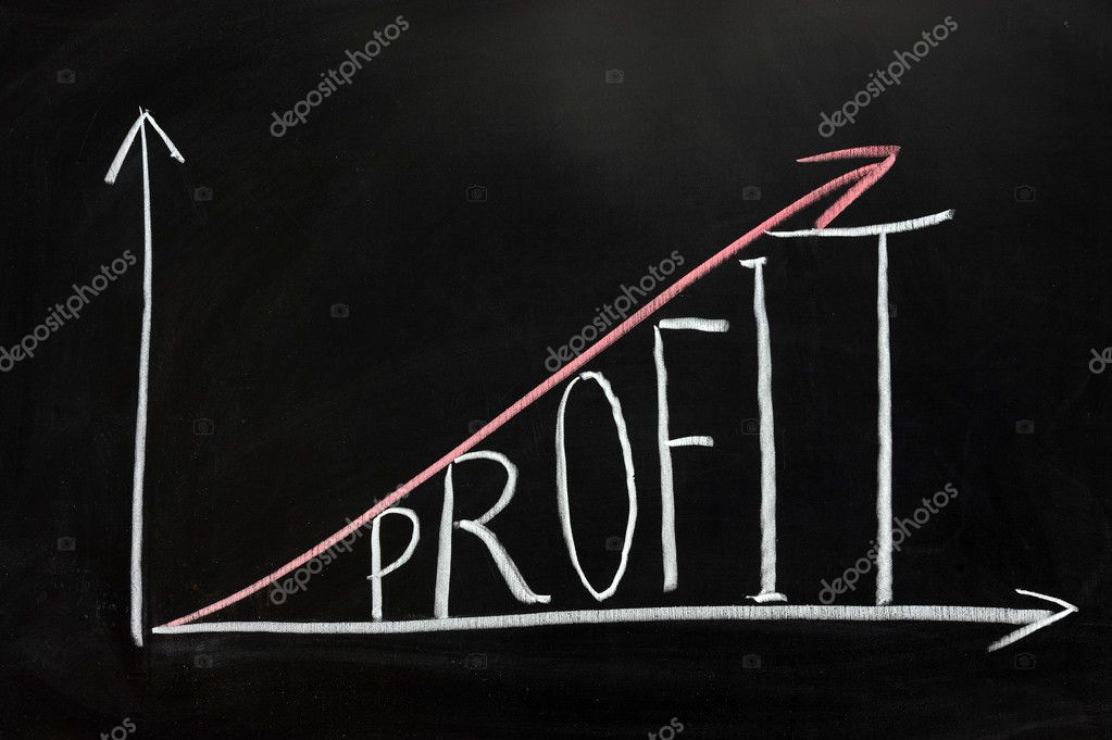 Chalk drawing - Graph of Profit concept  Stock Photo #9185362