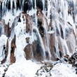 Ice waterfall landscape of China Jiuzhaigou — Stock Photo