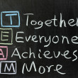 Stock Photo: TEAM: Together, Everyone, Achieves, More