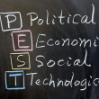 PEST: political, economic, social, technological — Stock Photo #9430884