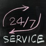 Twenty four/seven service — Stok fotoğraf