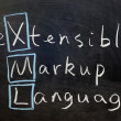 XML, extensible markup language — Stock Photo #9434935