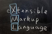XML, extensible markup language — Stock Photo