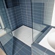 Modern shower cubicle in a modern bathroom — Stock Photo