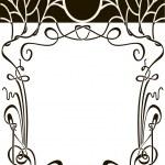 Art nouveau frame — Stock Vector #10031144