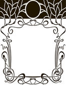 Art nouveau frame — Stock Vector