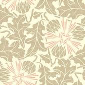 Vintage Seamless floral background. Vector dandelion — Stock Vector