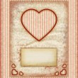 Valentine day Love Cards, Vintage Love Notes, Note Cards — Стоковая фотография