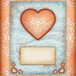 Valentine day Love Cards, Vintage Love Notes — Stock Photo #8938038