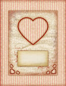 Valentine day Love Cards, Vintage Love Notes, Note Cards — Stock Photo