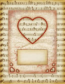 Valentine day Love Cards, Vintage Love Notes — Stock Photo