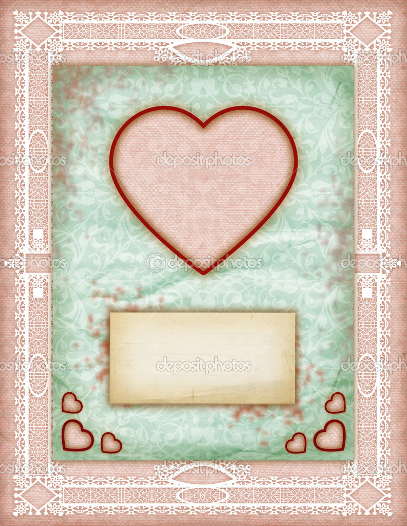 Love Cards, Love Notes, Note Cards, Little Surprise, Vintage Love Notes  Stock Photo #8938350