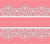 Vector floral lace background — Stock Vector