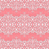 Seamless Floral Pattern. Vector lace background — Stock Vector